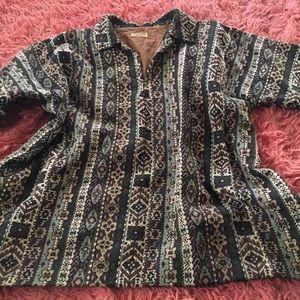 Vintage brocade pullover top